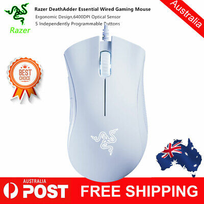 AU56.03 • Buy Razer DeathAdder Essential Wired Game Mouse 6400DPI Optical Sensor 220 IPS B7Y9