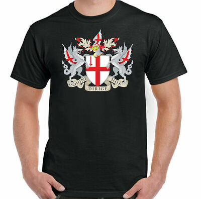 ST GEORGES DAY T-SHIRT, England Football Rugby Templar Dragon London Coat Of Arm • 8.94£