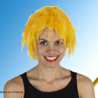 $17.95 • Buy Wig Rooster Hackle Feathers GOLD  Halloween Costume Punk Retro New