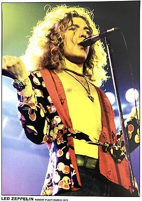 $41.99 • Buy Led Zeppelin Robert Plant March 1975 Concert Stage Shot Poster 23 X 33