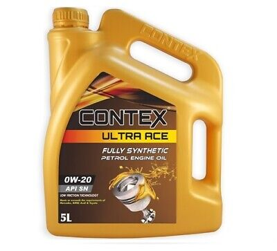 CONTEX ULTRA ACE 0W-20 Fully Synthetic LOW FRICTION Engine Oil 5LTR • 22.95£