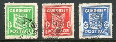 GUERNSEY 1942 GERMAN OCCUPATION ARMS  SG,1 - 3 Used • 7.99£