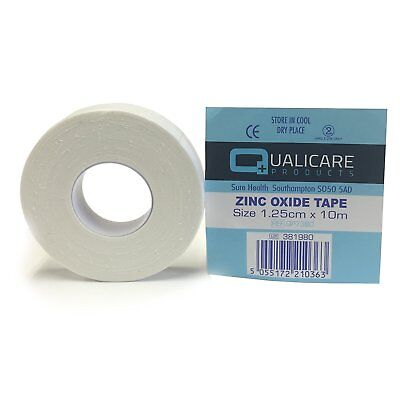 Qualicare White Zinc Oxide Tape Roll Sport Strapping Medical Clinical  • 1.97£