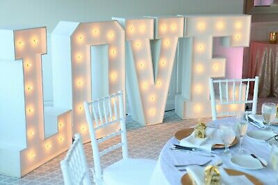 4ft High Illuminated Marquee Style Letter's Finished In White • 140£