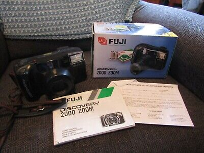 20 Yr. Old Working Fuji Discovery 2000 Zoom 35mm Camera W/box & Booklet. • 10.73£