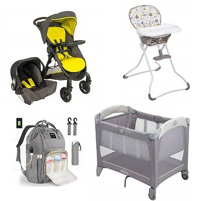 Graco Travel System Set Stroller With Car Seat Baby Cot Highchair Feeding NEW  • 379.99£