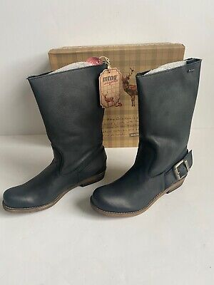$64.99 • Buy MTNG Originals Bill Black Leather Mid Calf Size 6.5 US 37 EU Boots New Box Spain