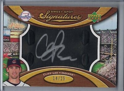$24.95 • Buy CLIFF LEE 2007 Sweet Spot Signatures Black Glove Leather Silver Ink Auto D9894