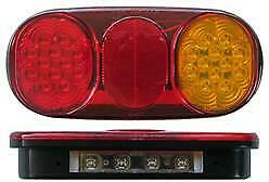 AU117 • Buy Pair Roadvision Boat Trailer Combination Light Lamp + Number Plate, Submersible