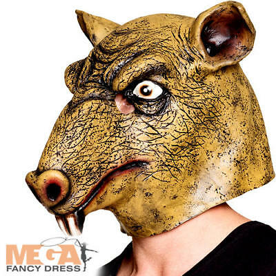 £11.49 • Buy Latex Rat Mask Adults Fancy Dress Rodent Animal Halloween Costume Accessory