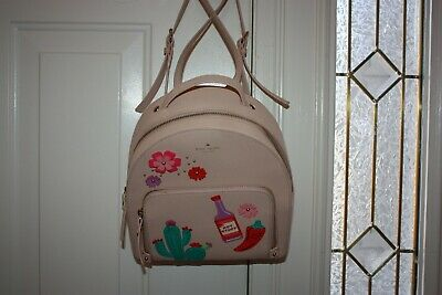 $ CDN162.22 • Buy Kate Spade New York Cactus Tomi New Horizons Cashew Leather Backpack NWOT