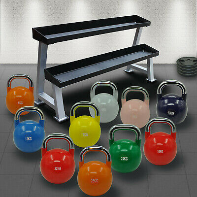 AU84.95 • Buy 4kg - 36kg Pro Competition Grade Steel  Kettlebell Weight - Gym Use - SINGLE ONE