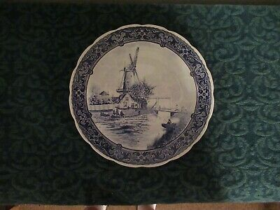 $90 • Buy Royal Sphinx Maastricht Delfts Made Holland12'' Wall Charger Plate Wind Mill