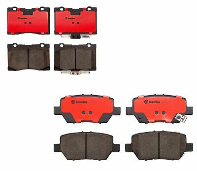 $92.95 • Buy Front And Rear Brembo NAO Ceramic Brake Pad Set Pads Kit For Acura RL 2005-2012