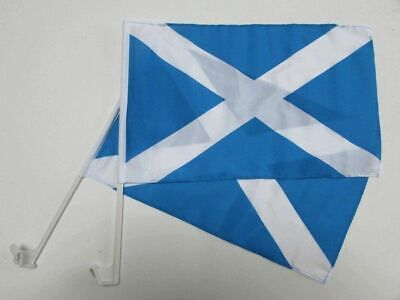 SCOTLAND ST ANDREW CROSS Car Window Flag 2 Pack.  FREE UK Delivery! • 11.99£