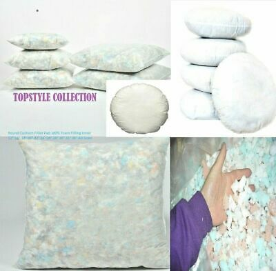 £8.89 • Buy Cushion Pads Inserts Fillers Inners Crumb  Foam Filling Inner Pad Round  Floor