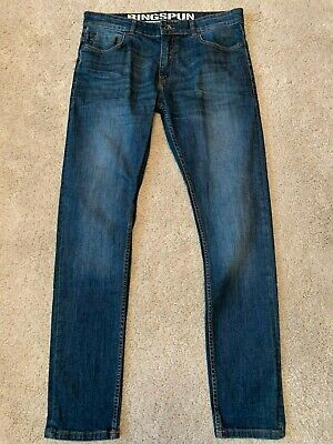 Mens Ringspun Riskin Skinny Stretch Jeans Blue 30w 30l Used Vgc Fast Post • 15.99£