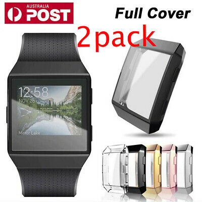 AU12.99 • Buy 2Pac Ultra-thin TPU Full Cover Clear Screen Protector Case Skin For Fitbit Ionic