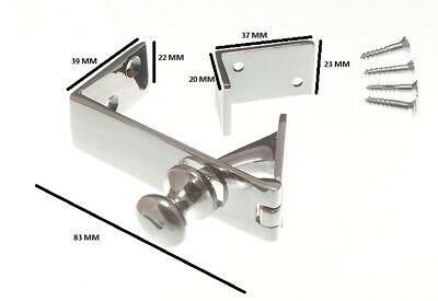 Brass Counter Flap Catch And Stay Chrome Plated Brass + Fixings • 8.64£
