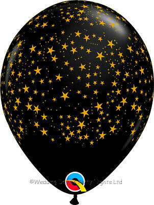 £3.69 • Buy 5 Black Gold Stars Helium/Air Balloons Hollywood New Year Party Prom Decorations