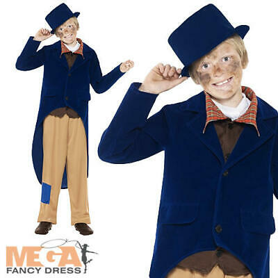 £10.99 • Buy Dickenisan + Hat Boys Fancy Dress Victorian Book Week Childrens Costume Outfit