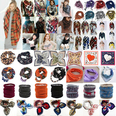 $4.99 • Buy Women Square Scarf Bandana Neckerchief Snood Neck Wrap Scarves Shawl Warmer Lot