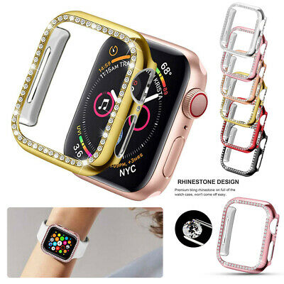 AU9.99 • Buy For Apple Watch Series 6 5 4 3 21 Bling Protector Case Cover Bumper Screen Frame