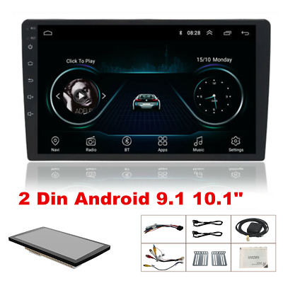 $125 • Buy 10.1  Android 9.1 Quad-core Stereo GPS Navigation Radio Player Double Din WIFI