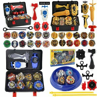 £25.79 • Buy 12PCS Beyblade Burst Set Spinning With Gold Grip Launcher+Portable Storage Box