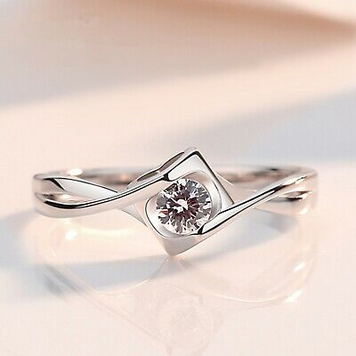 £2.99 • Buy 925 Sterling Silver Heart Twisted Stone Adjustable Ring Womens Jewellery Gift