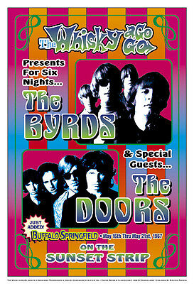 $12 • Buy The Byrds & Doors At The Whisky A Go Go Concert Poster 1967  13 3/4 X 19 3/4