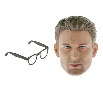 $30.70 • Buy 1/6 Head Sculpture W/ Glasses Frame For 12'' DID Enterbay Action Figure