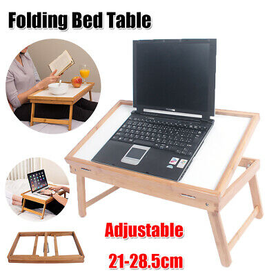 $13.99 • Buy Adjustable Portable Folding Wood Color Dining-table Bed Table Laptop Plank Desk