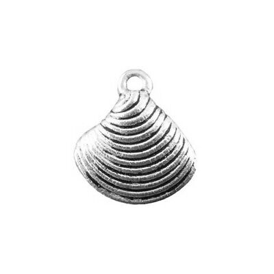 Shell Charm/Pendant Tibetan Antique Silver 15mm  10 Charms Accessory Jewellery • 1.89£