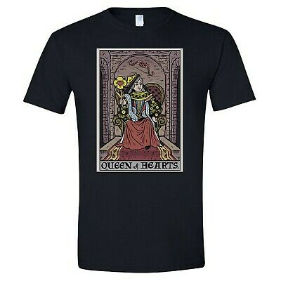 £14.54 • Buy Queen Of Hearts Tarot Card Shirt Valentines Day Shirt For Women Gothic Couple