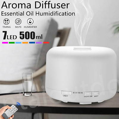 AU34.99 • Buy 500ml LED Aroma Diffuser Essential Oil Ultrasonic Air Aromatherapy Humidifier