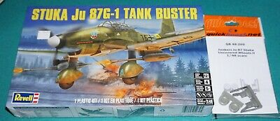 $14.99 • Buy Stuka Ju87G-1 Tank Buster Revell 1/48 Factory Sealed W Quickboost Resin.