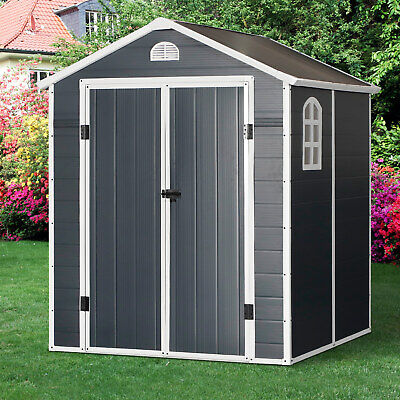 Garden Storage Shed Outdoor Patio Shed W/ Latch Window - 6ft X 6ft • 529.99£