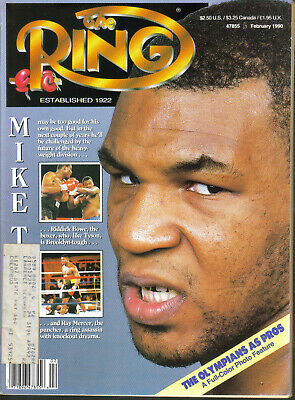 $2.99 • Buy The Ring Magazine February 1990 Mike Tyson Ray Mercer Riddick Bowe Bobby Czyz