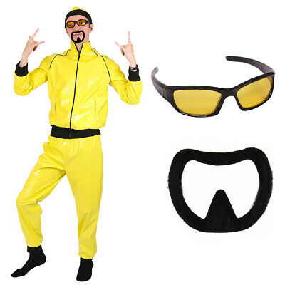 AU32.07 • Buy Adults 90's Rapper Costume Yellow Tracksuit Mens Gangster 1990's Fancy Dress