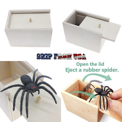 $7.99 • Buy Spider Gift Box Fake Rubber Toy Scare April Fool's Day Joke Trick Prank Party