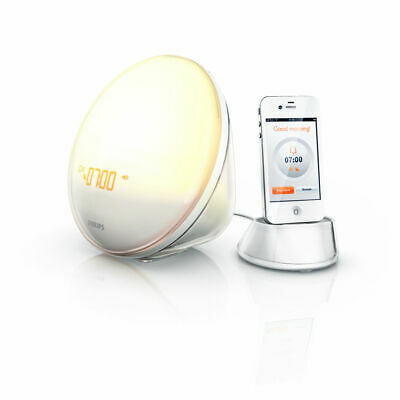 AU76.50 • Buy Philips Wake-up Light HF3550 White With Colored Sunrise And IPhone Adapter