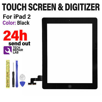 £9.99 • Buy For IPad 2 A1395 A1396 A1397 Screen Replacement Black Touch Digitizer Genuine IC