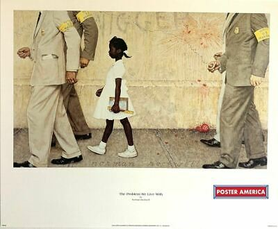 $ CDN181.94 • Buy Norman Rockwell The Problem We Live With Rare 1997 Vintage Art Poster Print 18 X