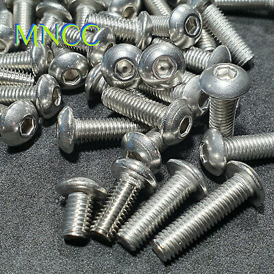 AU4.25 • Buy M5 X 8~20mm Hex Socket Button Head Screws / Bolts 304 Stainless Steel M5 0.8mm