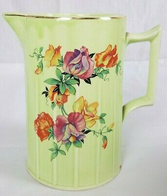 $12.33 • Buy Vintage Limoges China Sebring Ohio Green Pitcher With Flowers 8 1923 Graybar 6