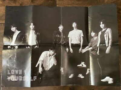 $2 • Buy BTS - Love Yourself: Tear O Version Official Folded Poster (used)