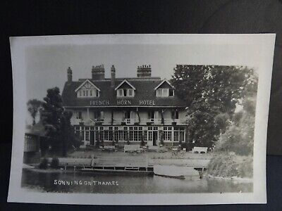 Berkshire French Horn Hotel Sonning On Thames Real Photo Vintage Postcard  • 4.99£