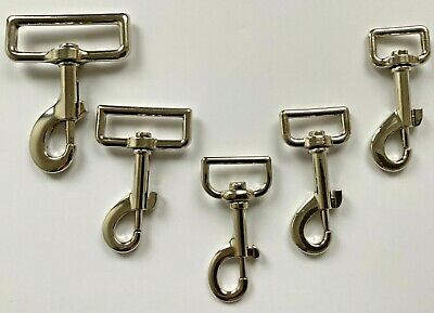 Metal Spring Loaded Trigger Swivel Hooks For 20mm 25mm 30mm Webbing Pet Leads  • 2.45£