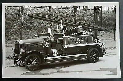 Postcard Size Photograph F. Steiner Church Works Fire Engine-church Pontypridd  • 10£